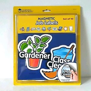 Learning Resources Teacher 10 Magnetic Job Labels